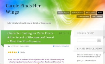 Blog Tour Stop: Character Casting the Non-Humans in Zaria Fierce
