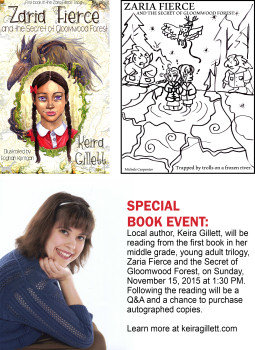 Book Signing and Author Reading Event: Melbourne Public Library on November 15, 2015
