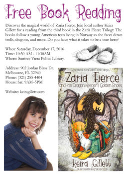 Mark Your Calendars for a Fierce Book Event: 12-17-16 at the Suntree Viera Library